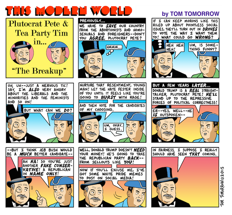 Tom Tomorrow plutocrats and trump
