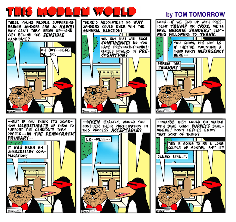 Tom Tomorrow If not now, when