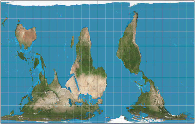 Replacing Mercator with the Gall Peters projection of the Earth
