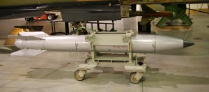 B-61 nuclear bomb - .3-340kt variable yield WMD