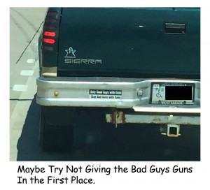 It takes a good guy with a gun to stop a bad guy with a gun.