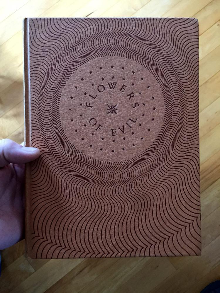 Cover, embossed cardboard