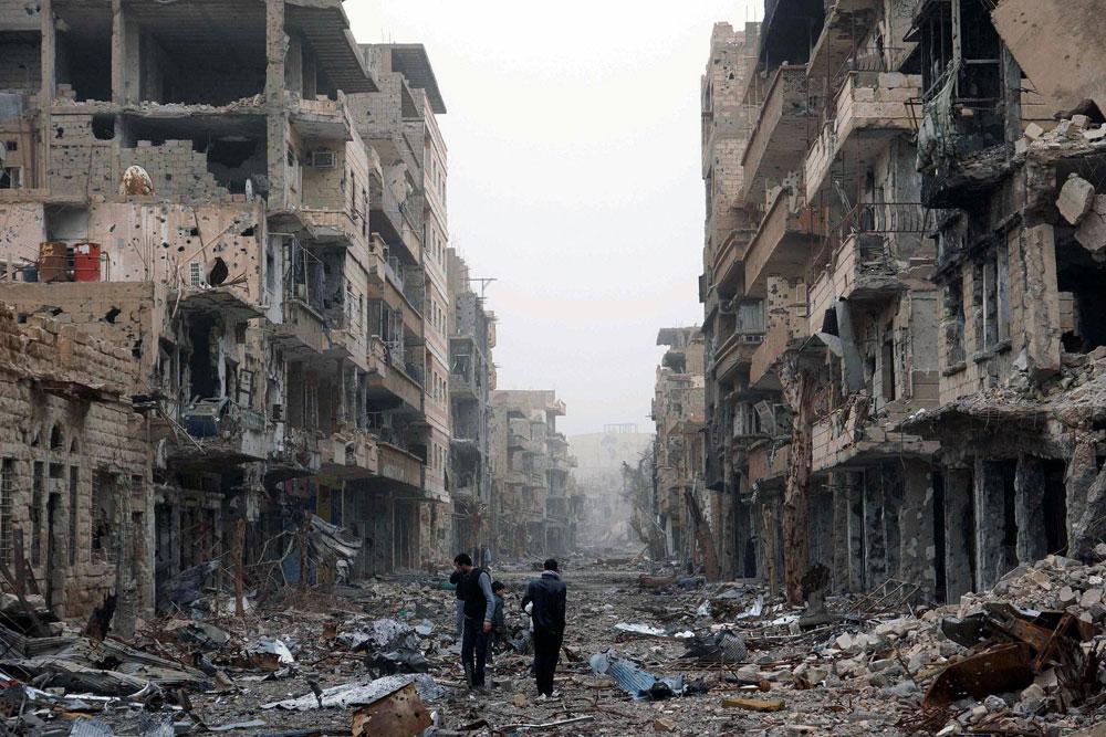 Street scene in Syria
