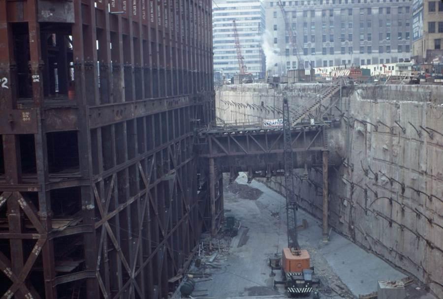 "World Trade Center ""bathtub"" base construction"
