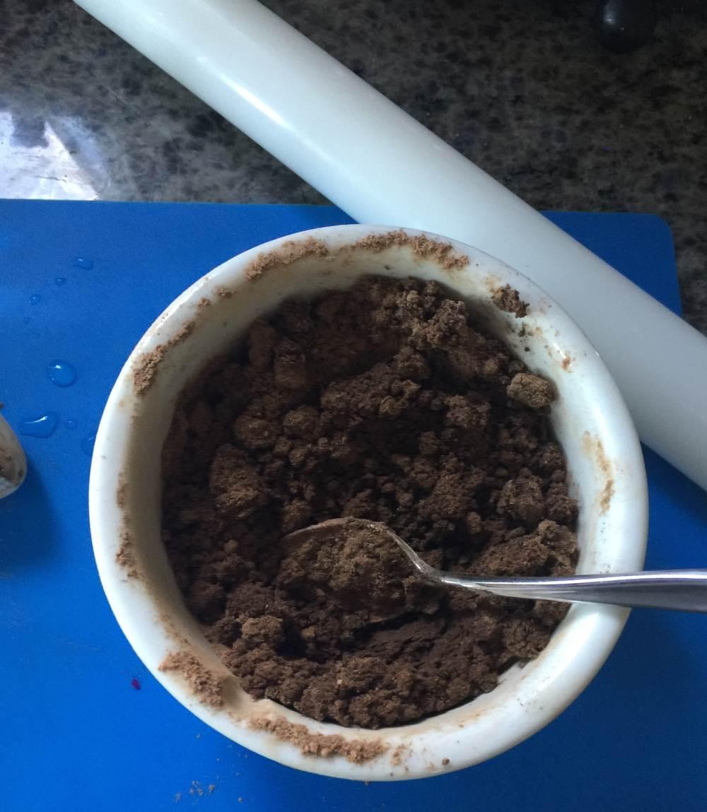 adding water toward dough