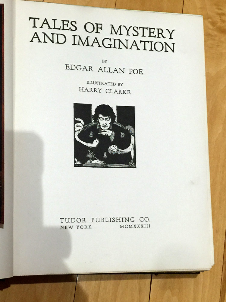 Tales of Mystery and Imagination - cover plate