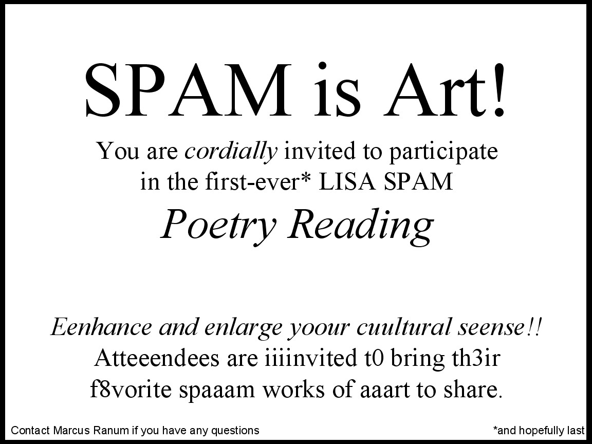 Spam as art