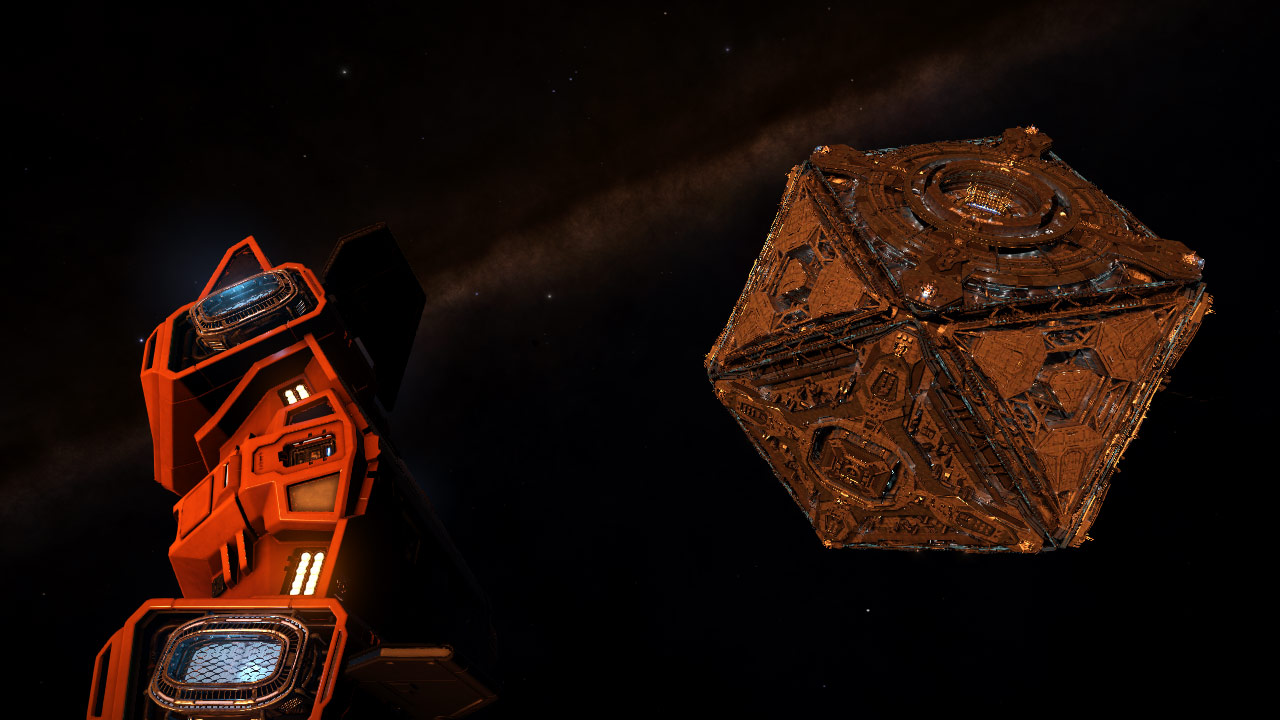 Approaching a station in M/V Longshot, CMDR Badger commanding