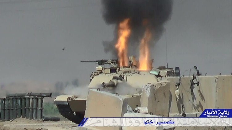 ISIL posted image of a brewed up Abrams