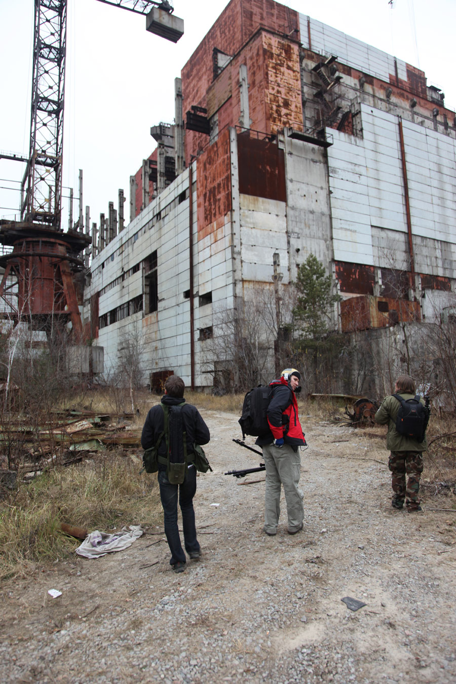 Outside Reactor #6, Chernobyl, Ukraine 2011