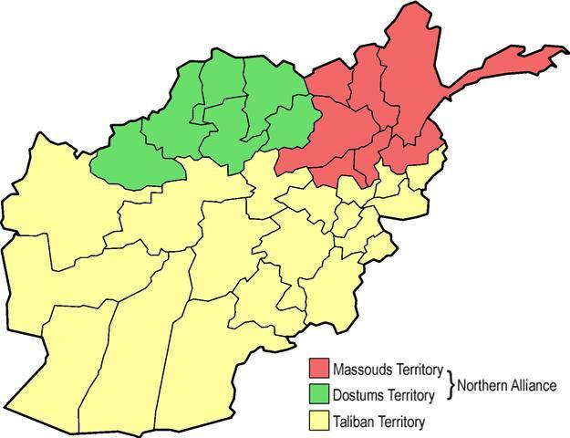 Power in Afghanistan, 1996