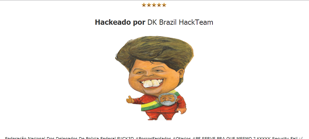 Hacked Website of Brazilian National Police