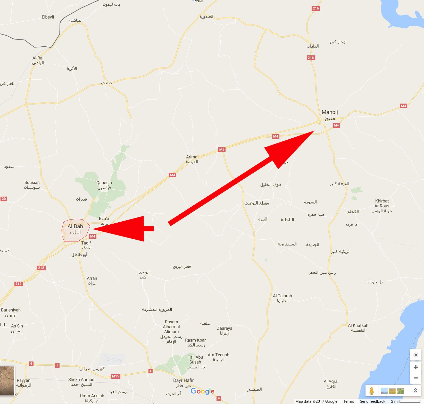 Al Bab and Manbij