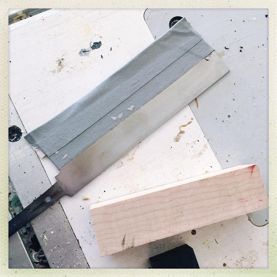 taped blade