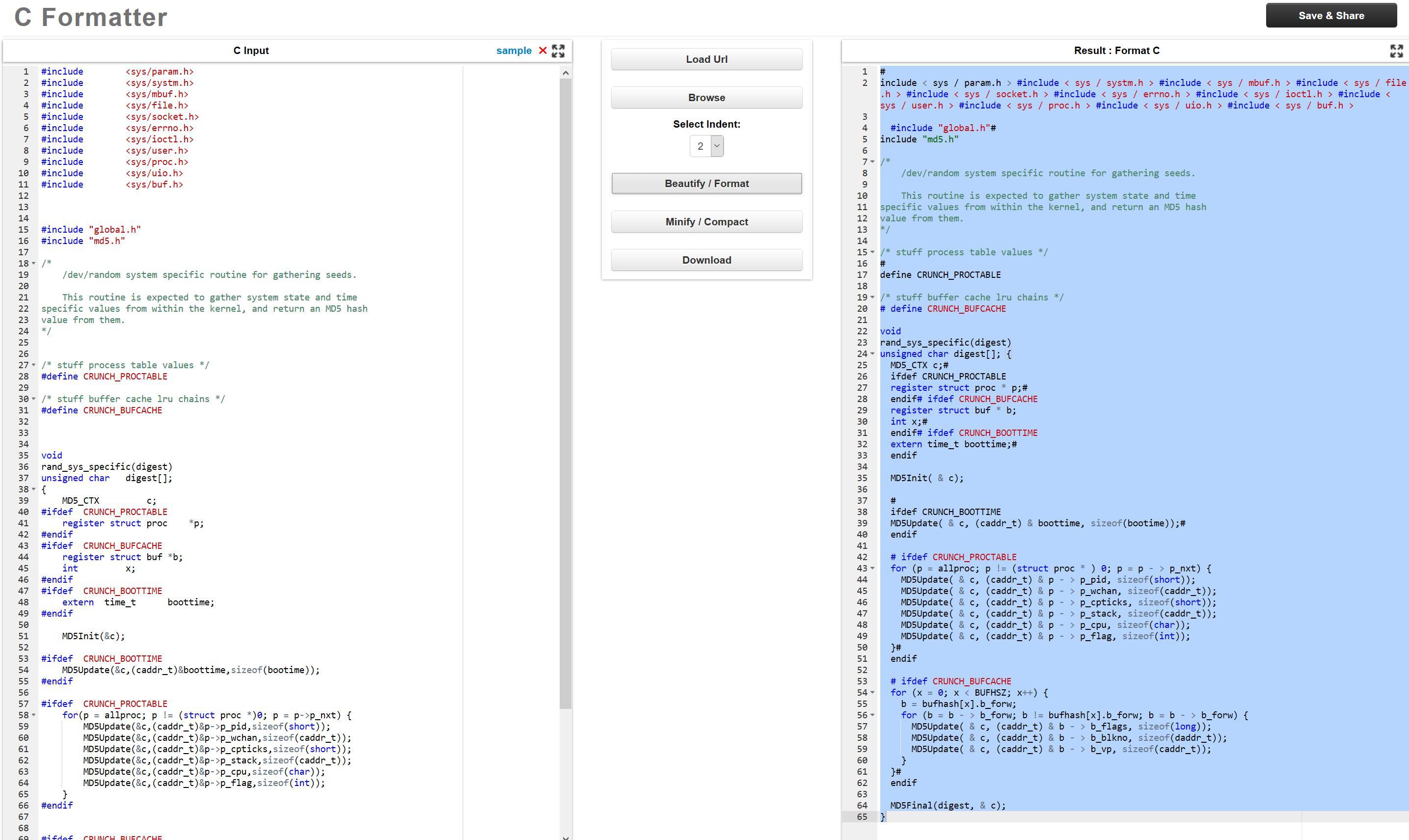 pretty code
