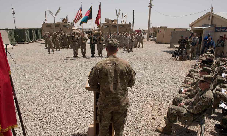 Flag Raising at Camp Bastion