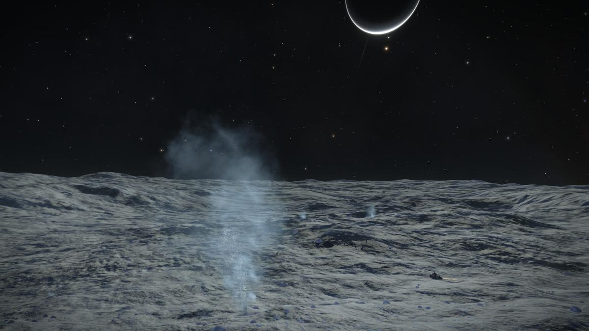 Fumaroles on Enceladus